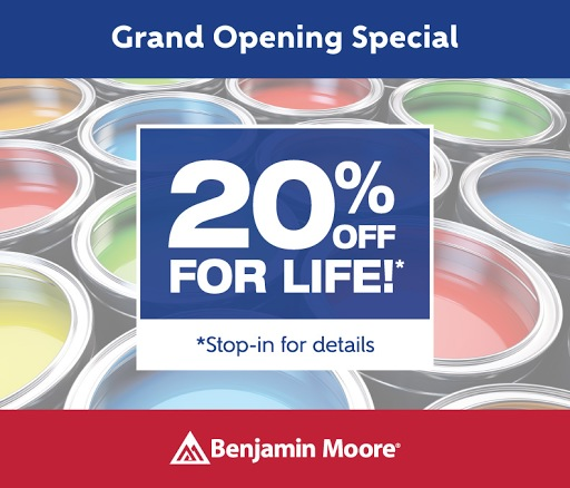 20% off for life grand opening promotion